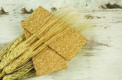 Хрустящий хлеб и кукурузные початки Стоковые Изображения RF