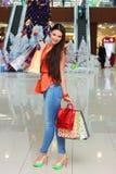 Худенькая красивая девушка после продажи Стоковое фото RF