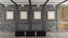 Художественная галерея в просторной квартире Стоковое Изображение RF