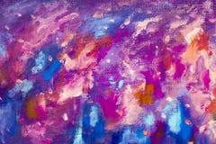 Художественное произведение иллюстрации искусства ночного неба космоса галактики абстрактного backgroud текстуры голубое фиолетов Стоковое Изображение