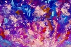 Художественное произведение иллюстрации искусства ночного неба космоса галактики абстрактного backgroud текстуры голубое фиолетов Стоковое фото RF