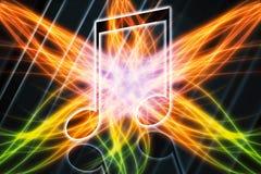 Художественное произведение конспекта художественное современное музыкальное на абстрактной пестротканой предпосылке поля энергии бесплатная иллюстрация