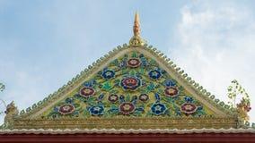 Художественное произведение на крыше виска Стоковые Фотографии RF