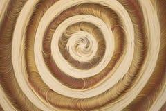 Художественное произведение с бежевыми и белыми концентрическими кругами Стоковое Изображение RF