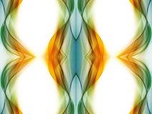 Художественное произведение фракталей конспекта уникальное художественное на белой предпосылке иллюстрация вектора