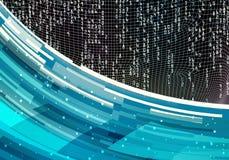 Художественный компьютер 3d произвел иллюстрацию современной предпосылки течь данных стоковое изображение