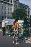 2 художника в Румынии стоковое фото