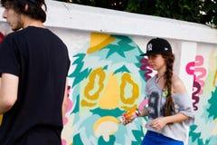 Художники надписи на стенах Стоковое Фото