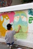 Художники надписи на стенах Стоковое фото RF
