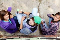 Художники надписи на стенах Стоковые Фото