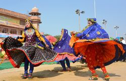 Художники Rajasthani фольклорные, стадион Bikaner, Раджастхан, Индия стоковая фотография rf