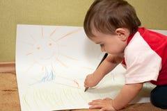 художник воодушевил детенышей стоковая фотография rf