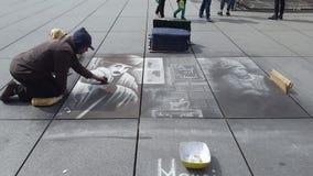 Художник Париж улицы стоковая фотография rf