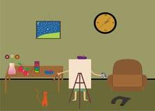 художник рисует Стоковая Фотография