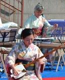 художник shamisen стоковое изображение