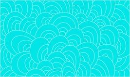 Художническая абстрактная голубая нарисованный вручную предпосылка волн Стоковое Изображение RF