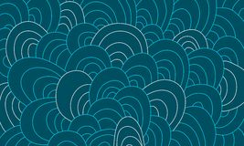 Художническая абстрактная нарисованный вручную предпосылка волн иллюстрация вектора