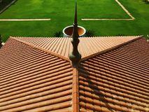 Художническая абстракция крыши здания стоковая фотография