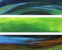 художнические знамена Стоковые Изображения