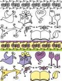 художнические иконы wedding Стоковое Изображение RF