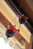 художнические candleholders вися окно Стоковое Фото