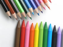 художнические crayons детей Стоковая Фотография RF