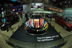 Художнический дизайн цвета BMW M3 GT2 автомобиля Джеф Koons стоковая фотография rf