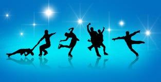 художнический кататься на коньках плаката Стоковая Фотография