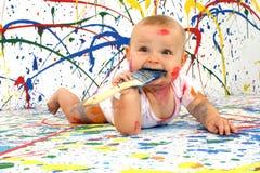художнический младенец Стоковые Изображения