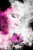 художнический портрет красотки Стоковая Фотография