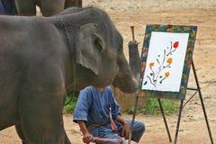 художнический слон Стоковое Изображение