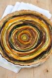 Художнический Vegetable пирог стоковое фото
