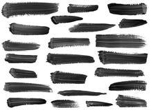 художническим изолированные собранием штриховатости краски Стоковое Изображение RF