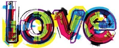 художническое слово влюбленности иллюстрации Стоковое Изображение
