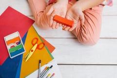 Художническое творение Предыдущее образование ребенка стоковое изображение rf