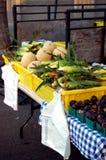 хуторянин выходят oganic вышед на рынок на рынок Стоковая Фотография RF