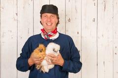 хуторянин цыплят стоковое фото