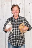 хуторянин цыплят стоковое фото rf