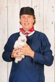 хуторянин цыплят стоковая фотография rf