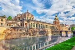 Художественная галерея дворца Zwinger (Der Dresdner Zwinger) Дрездена, wh Стоковые Изображения