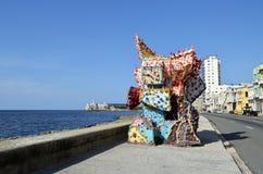Художественное произведение в malecon (Гаване, Кубе) Стоковое Изображение