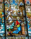Художественное произведение католика цветного стекла стоковое изображение rf