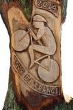 Художественное произведение на Тур-де-Франс Harrogate 2014 Стоковые Фотографии RF
