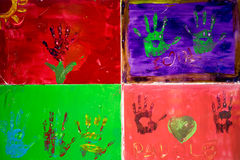 Художественное произведение руки Стоковые Фотографии RF