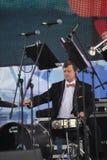 Художники представления, оркестр, ансамбль латуни kronwerk аппаратур ветра Стоковое фото RF