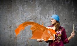 Художник девушки стоковая фотография