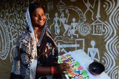 Художник женщины стоковое изображение