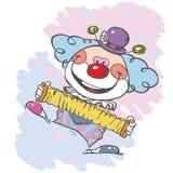 Художник клоуна цирка иллюстрация вектора
