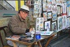 Художник на boca Ла в Буэносе-Айрес, Аргентине Стоковые Изображения RF