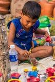 Художник ребенка на работе стоковые фотографии rf